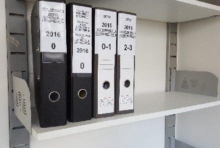 מדפים למשרד - מערכות פס חריצים